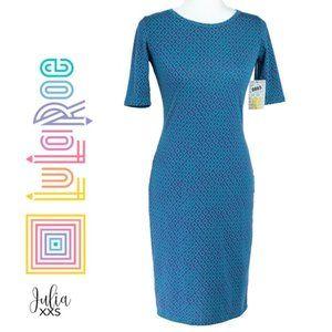 🔴 LulaRoe Julia Maxi Blue Print Dress 📍SALE📍